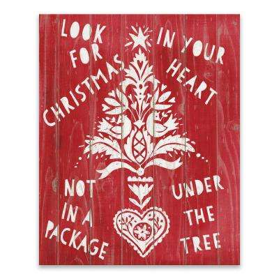 """""""Look For Christmas In Your Heart"""" by Lot26 Studio Printed Canvas Wall Art"""