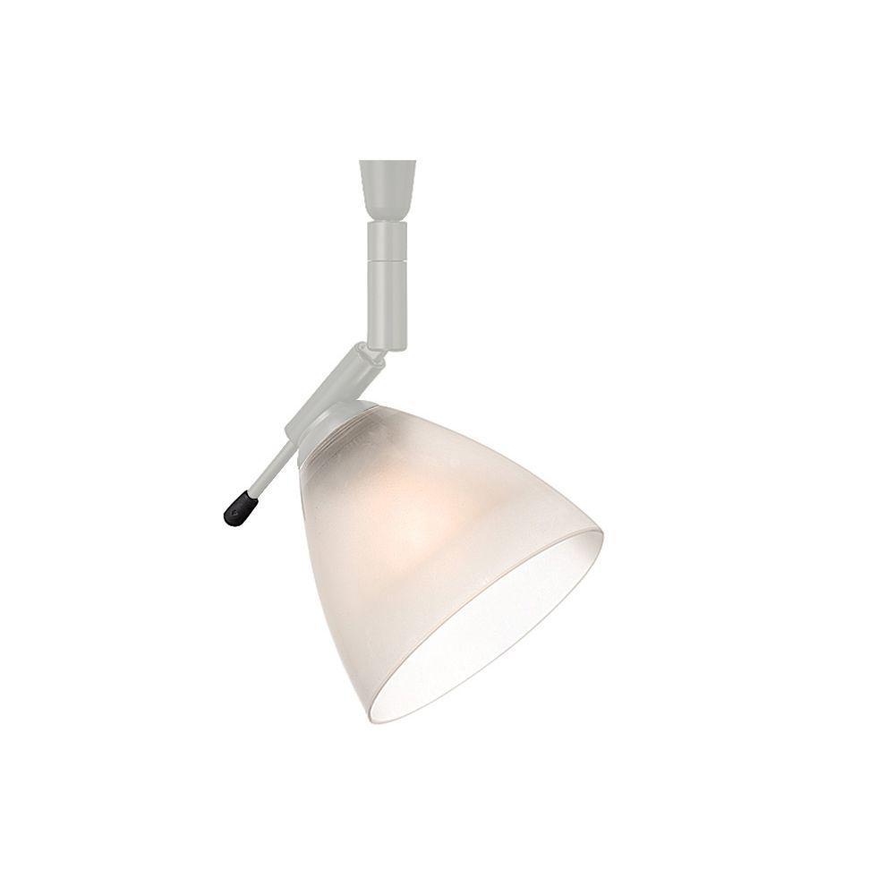 Mini-Dome I Swivel I 1-Light Satin Nickel Frost Track Lighting Head