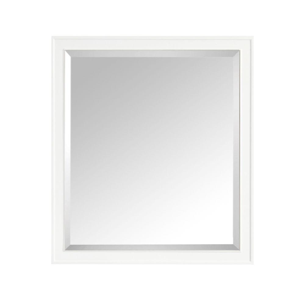 avanity madison 36 in w x 32 in h single framed mirror in white madison m36 wt the home depot. Black Bedroom Furniture Sets. Home Design Ideas
