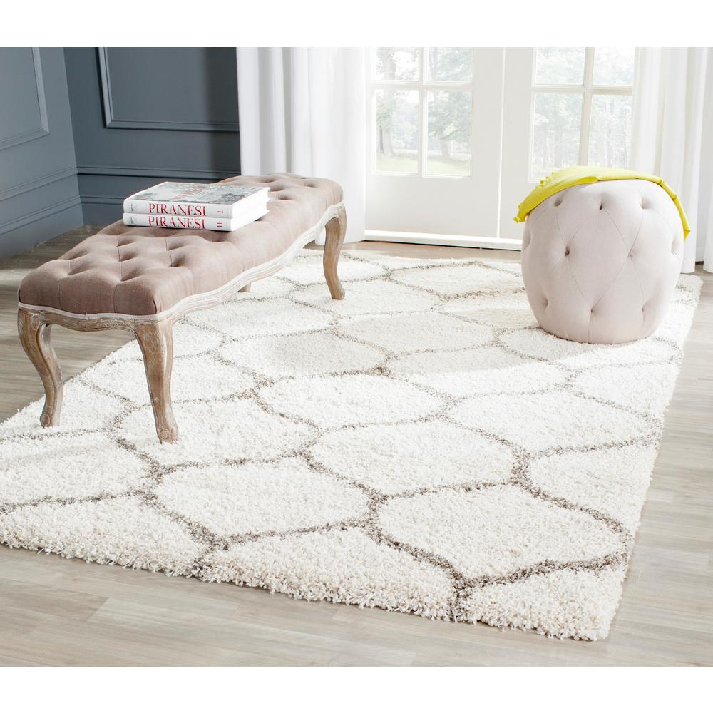 10 Foot Square Rug Part - 31: Safavieh Hudson Shag Ivory/Gray 8 Ft. X 10 Ft. Area Rug