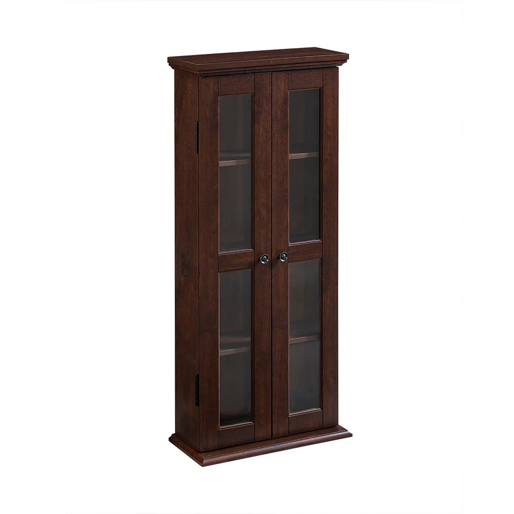 Walker Edison Furniture Company Traditional Brown Storage Cabinet Hdt41tb The Home Depot