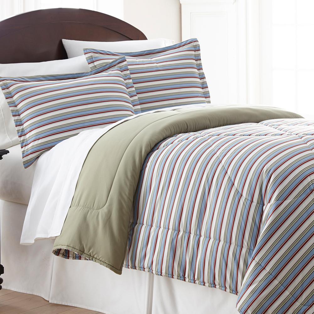 Awning 3-Piece Awning Stripe King Comforter Set