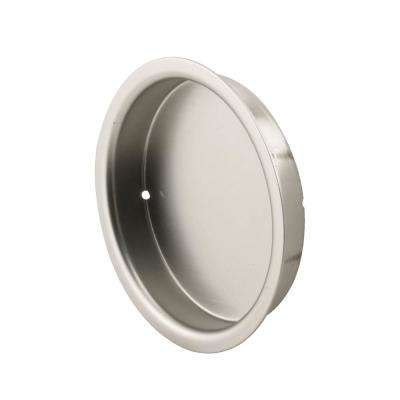 2 1/8 in., Solid Brass with Satin Nickel Finish, Finger Pull, 2 Pack