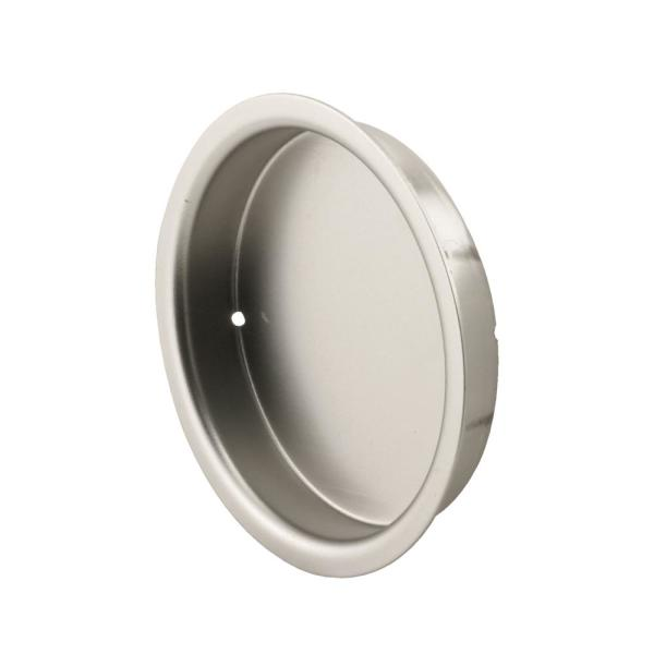 2 1/8 in., Solid Brass with Satin Nickel Finish, Finger Pull (2-pack)
