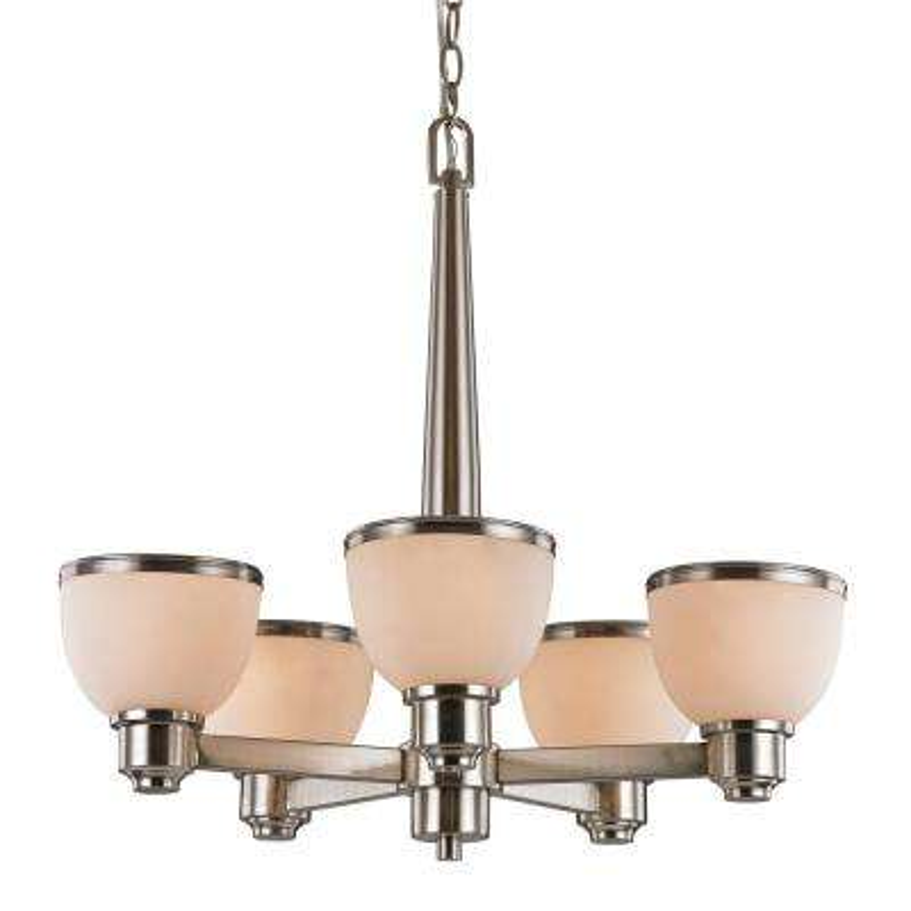 Pierce 5-Light Nickel Indoor Chandelier