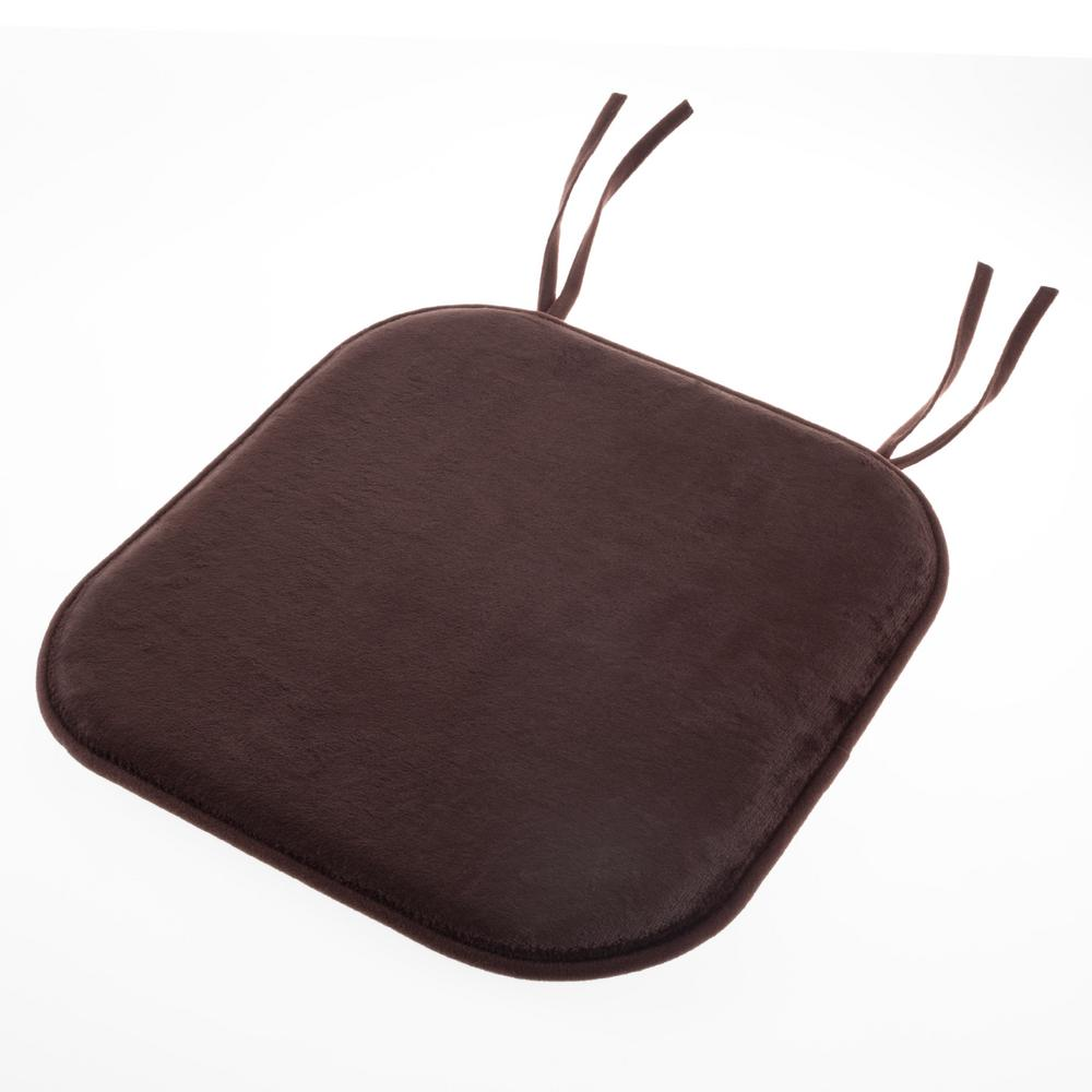 Lavish Home Brown Memory Foam Chair Pad