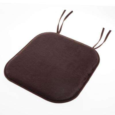 Brown Memory Foam Chair Pad