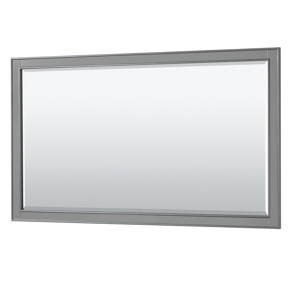Deborah 58 in. W x 33 in. H Framed Rectangular Bathroom Vanity Mirror in Dark Gray