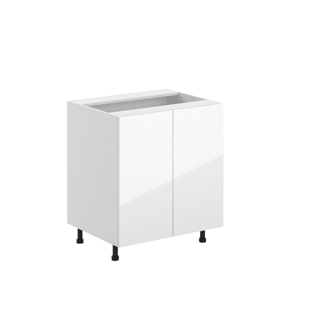 Valencia Ready To Emble 30 X 34 5 24 In Full Height Base Cabinet White Melamine And Door