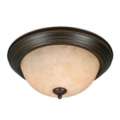 Maddox Collection 3-Light Rubbed Bronze Flushmount