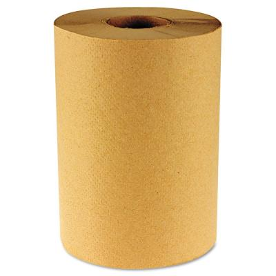 Hardwound Paper Towels Nonperforated 1-Ply Natural 800 ft (6 Rolls per Carton)