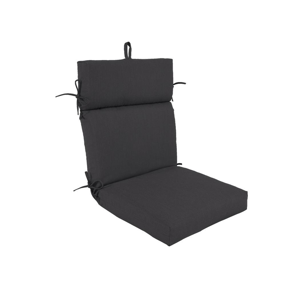 Pacifica Premium Slate Patio Dining Chair Cushion