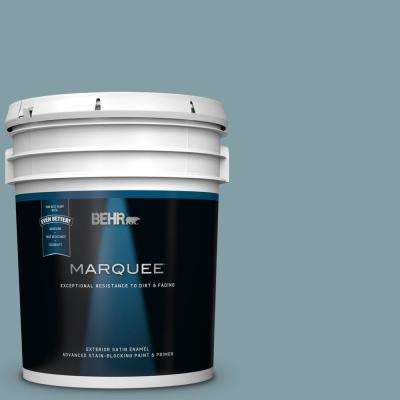 5 gal. #MQ5-27 Rainy Season Satin Enamel Exterior Paint and Primer in One