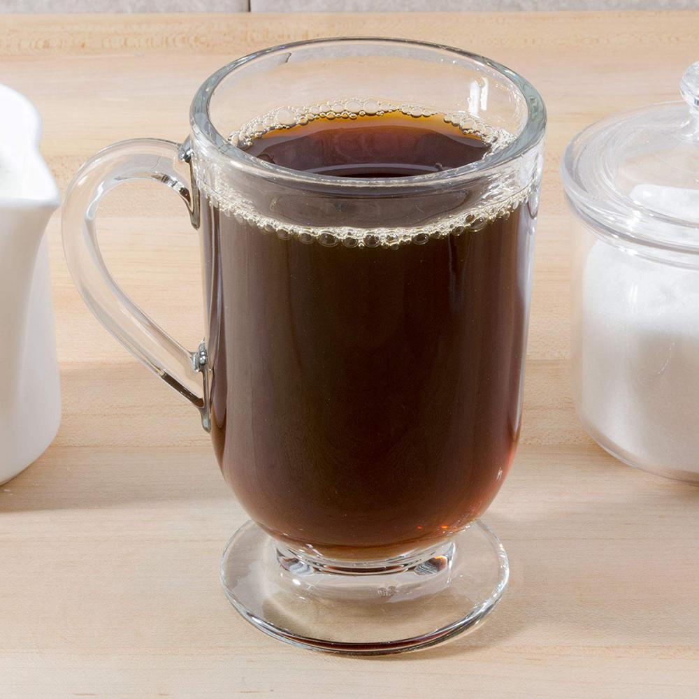 Irish Coffee Glass Mugs Footed 10.5 oz.Thick Wall Glass (Set of 12)