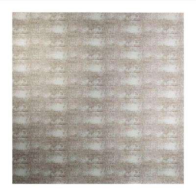 Flat Panel - 2 ft. x 2 ft. Vinyl Lay-In Ceiling Tile in Crosshatch Silver