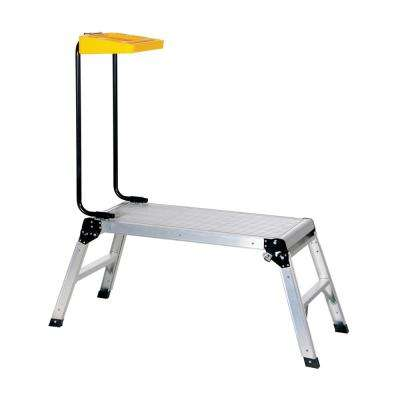 15 in. x 35 in. Aluminum Folding Step Platform with Tray