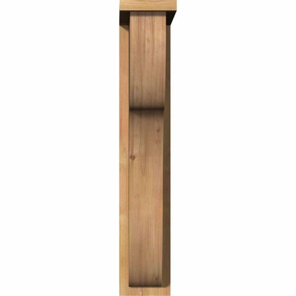 Ekena Millwork 5 1 2 In X 14 In X 30 In Western Red Cedar Carmel Smooth Corbel With Backplate Cor06x14x30car01swr The Home Depot