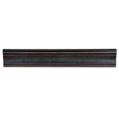 Contempo Onda Venetian Bronze Moldura 2 In. X 12 In. Travertine Metallic  Wall Trim