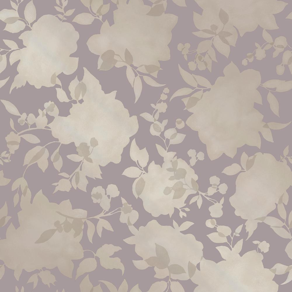 Tempaper Silhouette Dusted Lavender Self Adhesive Removable