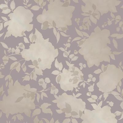Silhouette Dusted Lavender Self-Adhesive Removable Wallpaper