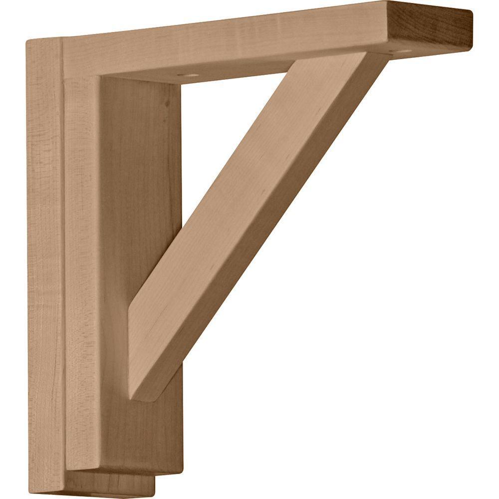 2-1/2 in. x 8-3/4 in. x 8-1/4 in. Rubberwood Traditional Shelf Bracket