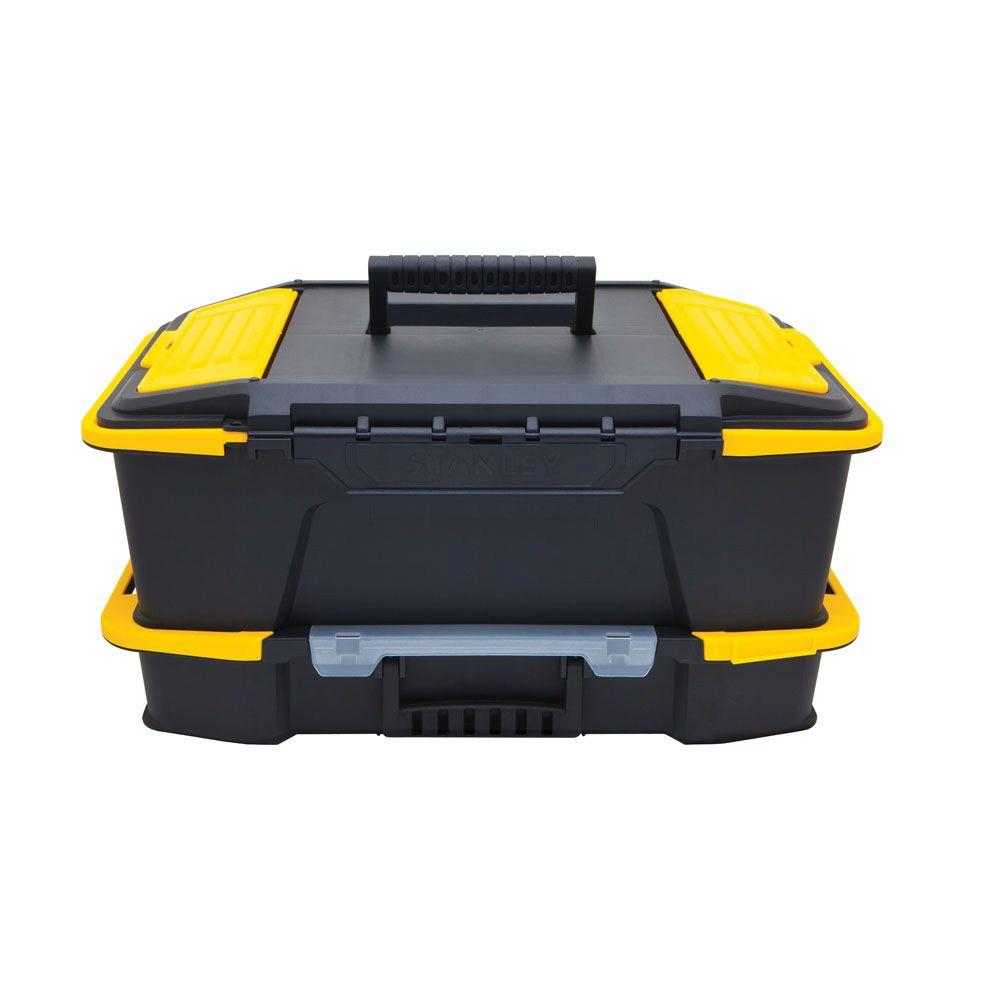 Stanley Click 'N Connect 20 in. 2-in-1 Deep 1-Touch Latch Tool Box and Organizer