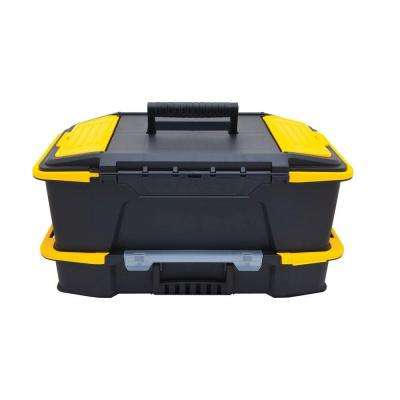Click 'N Connect 20 in. 2-in-1 Deep 1-Touch Latch Tool Box and Organizer