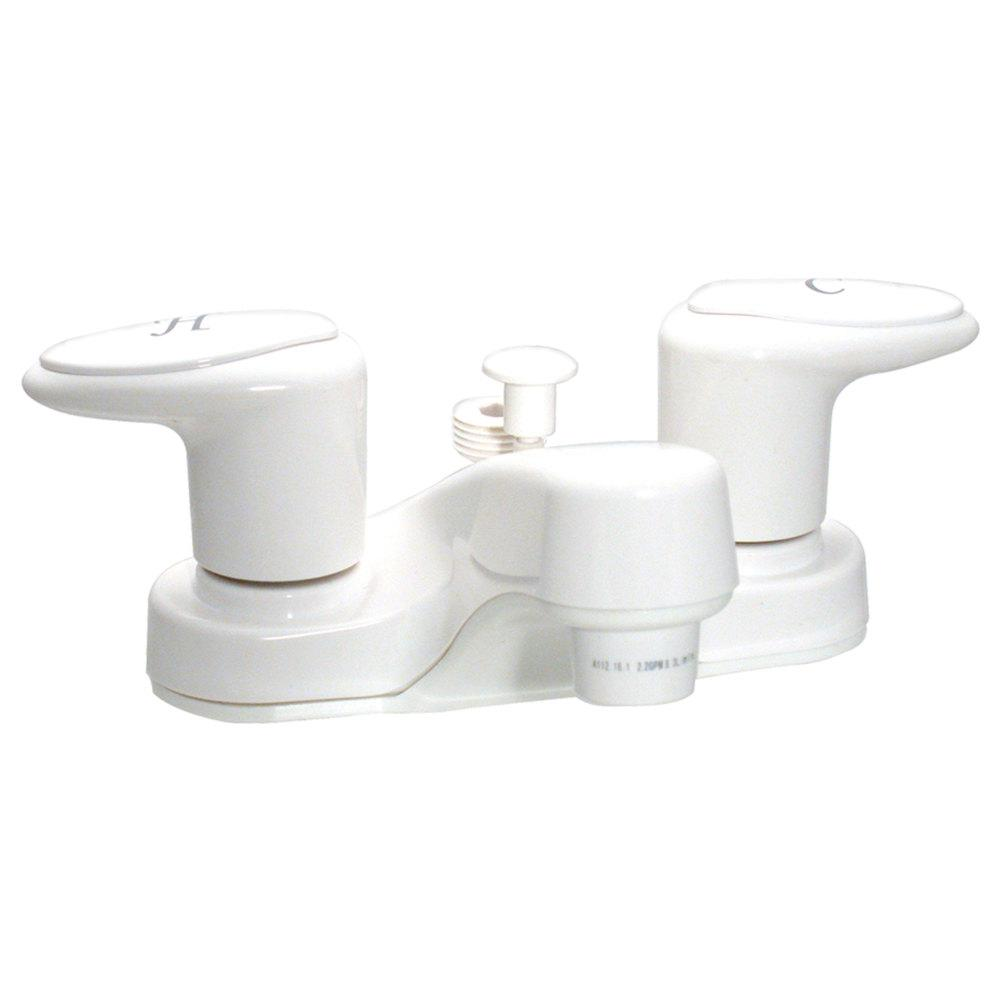 Valterra Catalina 4 in  2-Handle Bathroom Diverter Faucet with 2 in  Spout  in White