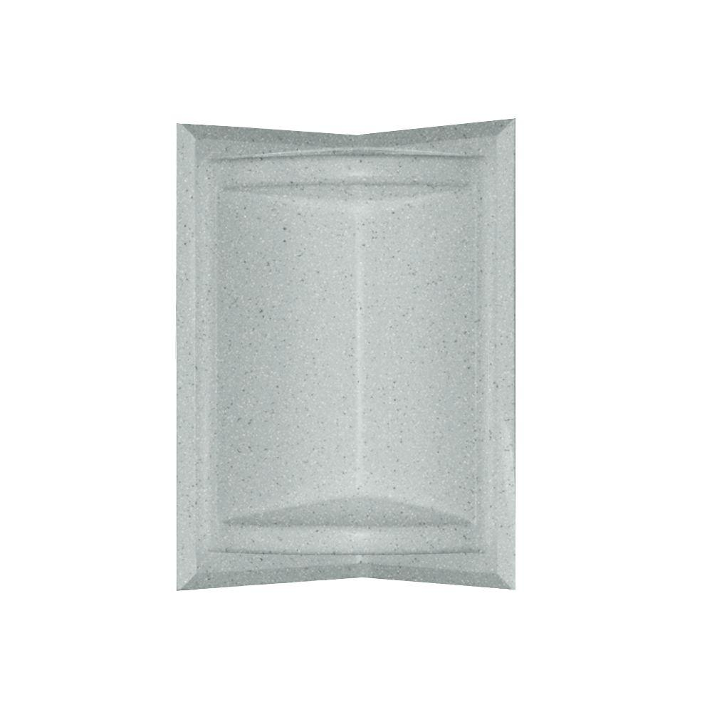 null Corner-Mount Solid Surface Soap Dish in Tahiti Gray