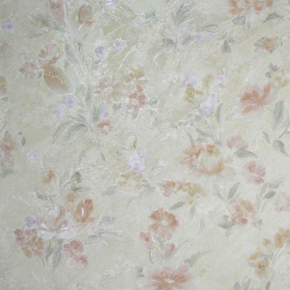 Brewster Marlene Peach Floral Wallpaper Sample 2686-54512SAM