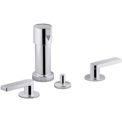 Composed 2-Handle Bidet Faucet in Polished Chrome