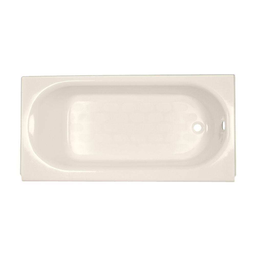 American Standard Princeton 5 Ft. Right Drain Bathtub In Linen 2391.202.222    The Home Depot