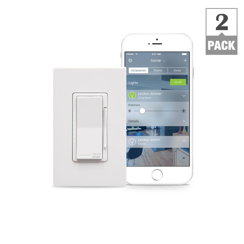 Decora Smart 600-Watt with HomeKit Technology Dimmer, Works with Siri (2-Pack)
