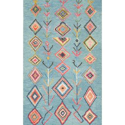 Belini Turquoise 9 ft. 6 in. x 13 ft. 6 in. Area Rug