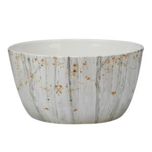 A Woodland 10 in. x 4 in. Walk Grey and Sepia Deep Bowl