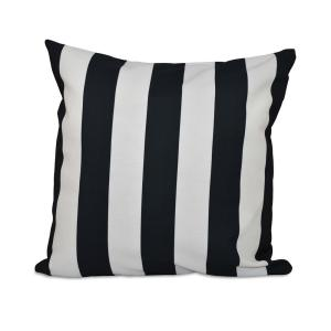 16 in. x 16 in. Classic stripes decorative Pillow in Black