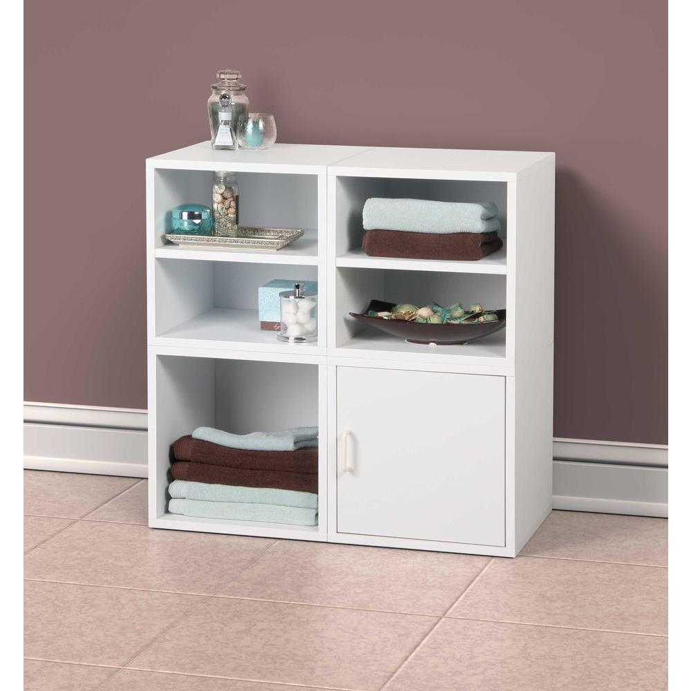 Superieur Foremost 15 In. White Shelf Cube
