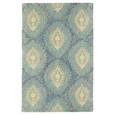 Montage Blue 9 ft. x 12 ft. Area Rug
