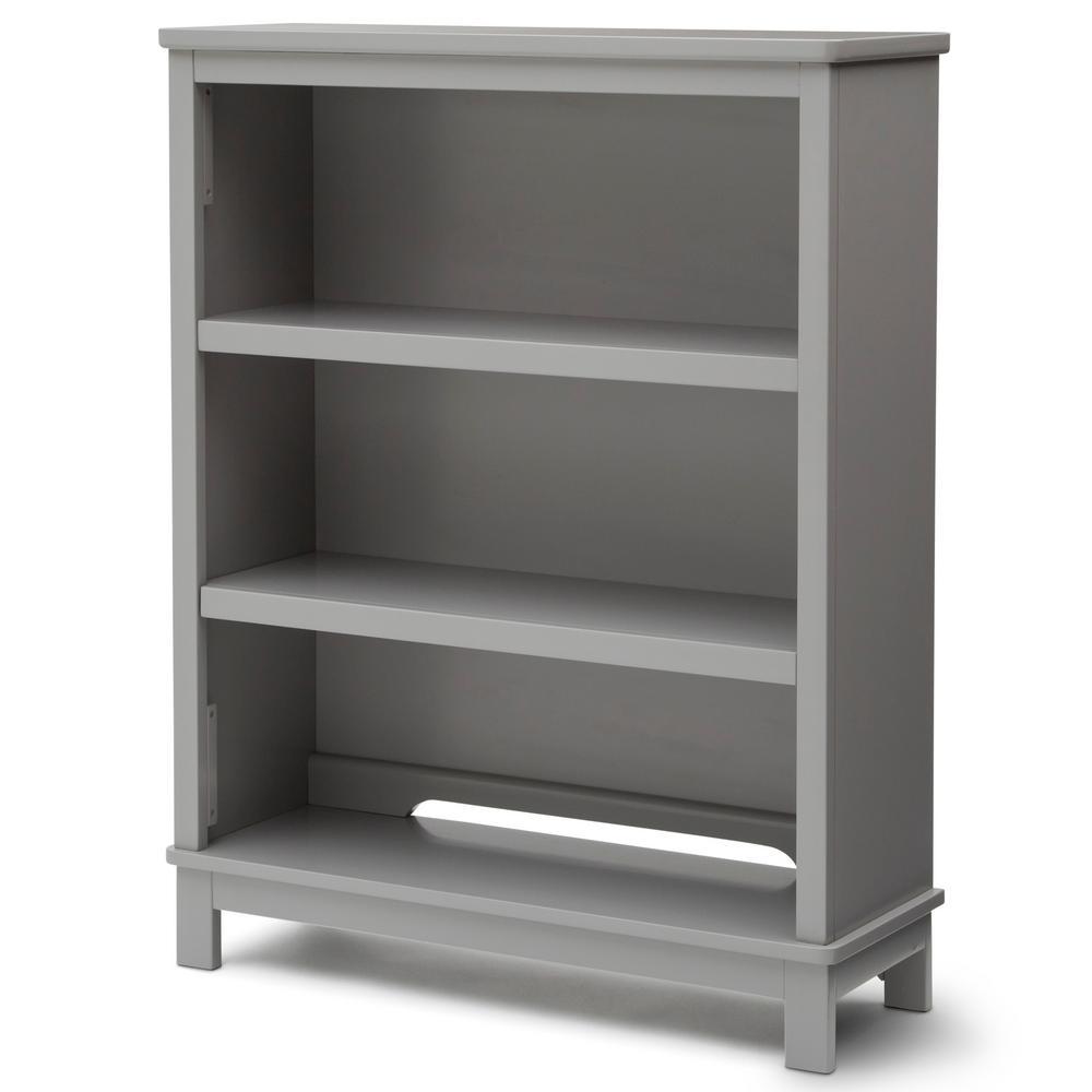 universal 3 shelf gray bookcase - Kid Bookshelves