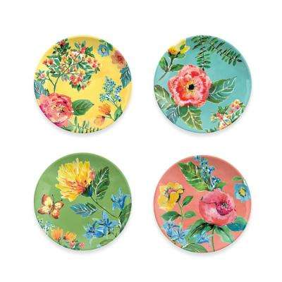 Garden Floral Assorted Salad Plates (Set of 4)