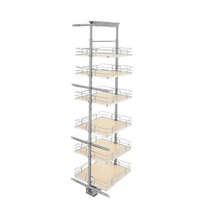 19 in. Chrome Maple Solid Bottom Pantry Pullout with Soft Close