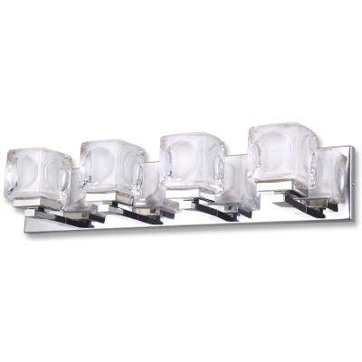 Nevada 4-Light Chrome Bath Light