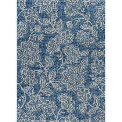 Veranda Indigo 5 ft. x 7 ft. Indoor/Outdoor Area Rug