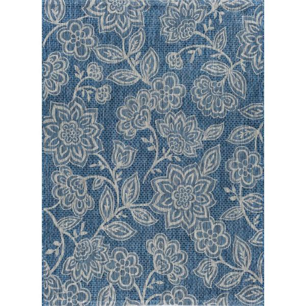 Veranda Indigo 8 ft. x 10 ft. Indoor/Outdoor Area Rug