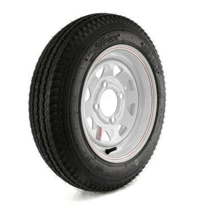 480-12 Load Range B 4-Hole Custom Spoke Trailer Tire and Wheel Assembly