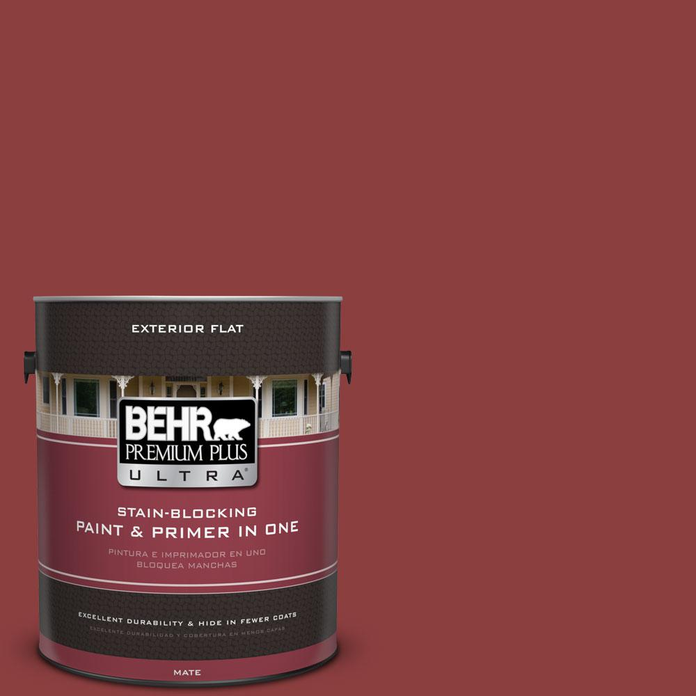 1-gal. #BXC-27 Carriage Red Flat Exterior Paint
