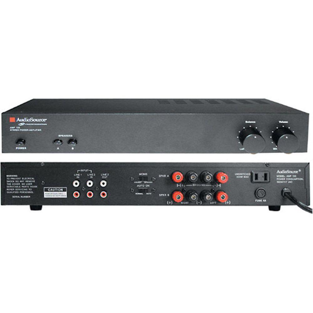 AudioSource 2-Channel Bridgeable Stereo Power Amplifier - 2 X 50-Watts (8 Ohms), 2 X 60-Watts (4 Ohms)-DISCONTINUED