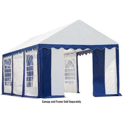 10 ft. x 20 ft. Blue/White Enclosure Kit with Windows for Party Tent (Party Tent Sold Separately)