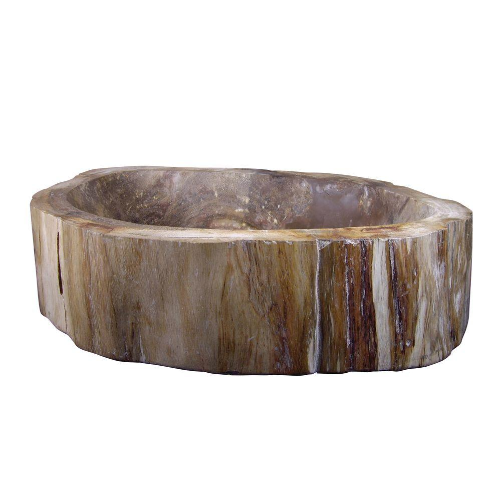 Yosemite Home Decor Petrified wood Unique Size Shape and Weight Vessel Sink in Natural-DISCONTINUED
