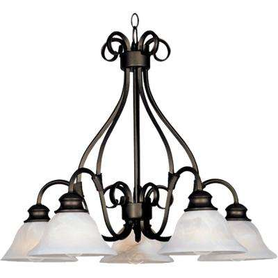 Pacific 5-Light Kentucky Bronze Chandelier